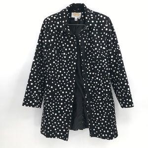 talbots black & white polka dot trench coat